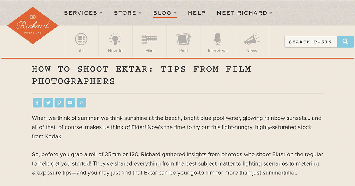 Featured in Richard Photo Lab's Blog!